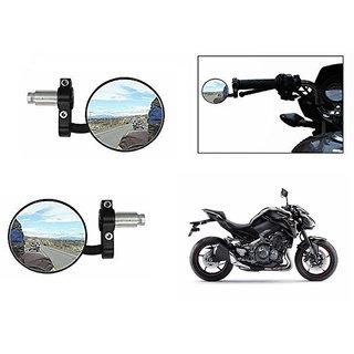 Himmlisch  Bike Handle Grip Rear View Mirror BLACK Set Of 2- For Kawasaki Z900
