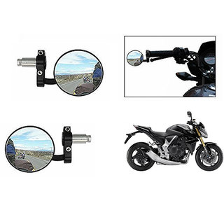 Himmlisch  Bike Handle Grip Rear View Mirror BLACK Set Of 2- For Honda CB1000R