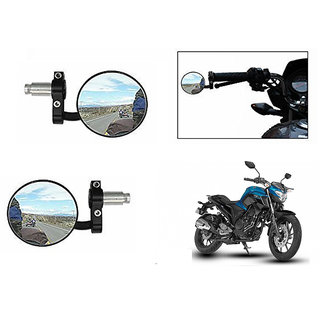 Himmlisch  Bike Handle Grip Rear View Mirror BLACK Set Of 2- For Yamaha Fazer 25