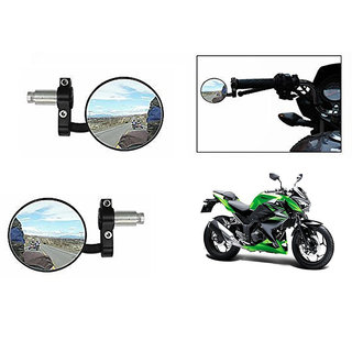 Himmlisch  Bike Handle Grip Rear View Mirror BLACK Set Of 2- For Kawasaki Z250