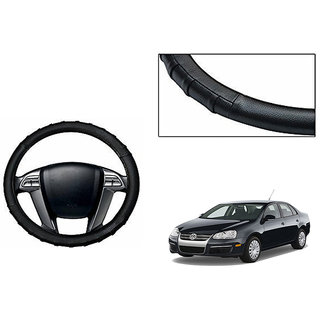 Himmlisch Grippy Leatherette Car Steering Cover Black For Volkswagen Jetta