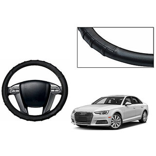 Himmlisch Grippy Leatherette Car Steering Cover Black For Audi A4