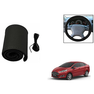 Himmlisch Leatherette Car Steering Wheel Cover Black For Ford Fiesta