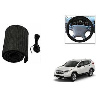 Himmlisch Leatherette Car Steering Wheel Cover Black For Honda CRV