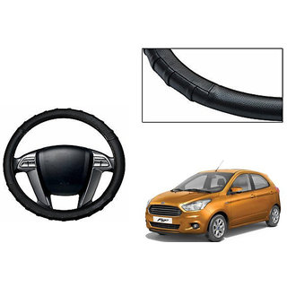 Himmlisch Grippy Leatherette Car Steering Cover Black For Ford Figo