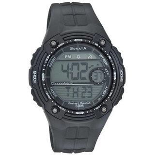 Sonata Round Digital Watch For Men-7949PP04