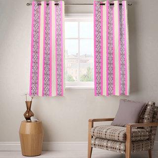 Sasha's Studio Set of 2 Designer Printed Window Curtains - Purple