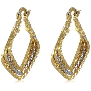 Vorra Fashion Beautiful Design Gold Plated Hoop Earring