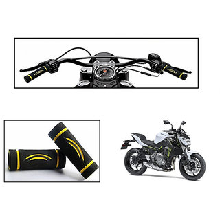 Himmlisch Bike Soft Comfort Riding Grip Covers Yellow Wave Styles Set Of 2- For  Kawasaki Z650