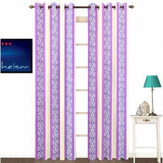 Sasha's Studio Set of 2 Designer Printed Door Curtains - Lavender