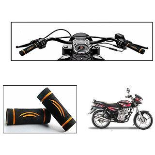 Himmlisch Bike Soft Comfort Riding Grip Covers Black&Orange Wave Styles Set Of 2- For  Bajaj Discover 125