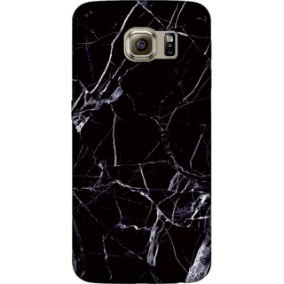 Galaxy S6 Edge Case, Marble Texture Black Slim Fit Hard Case Cover / Back Cover For Galaxy S6 Edge