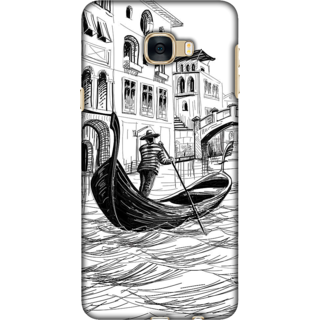 Galaxy C7 / C7 Pro Case, Venice Illustration Slim Fit Hard Case Cover / Back Cover For Galaxy C7 / C7 Pro