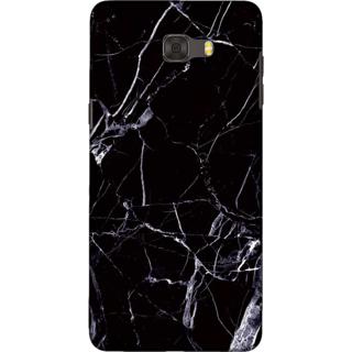 Galaxy C9 pro Case, Marble Texture Black Slim Fit Hard Case Cover / Back Cover For Galaxy C9 pro