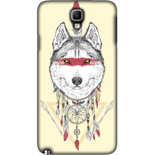 Galaxy Note 3 NEO Case, Wolf Illustration Slim Fit Hard Case Cover / Back Cover For Galaxy Note 3 NEO