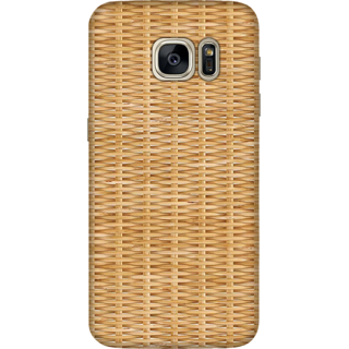 Galaxy S7 Edge Case, Light Bamboo Weave 1 Slim Fit Hard Case Cover / Back Cover For Galaxy S7 Edge