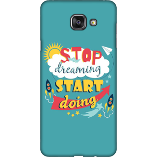 Galaxy A3 2016 Case, Start Doing Quote Slim Fit Hard Case Cover / Back Cover For Galaxy A3 2016