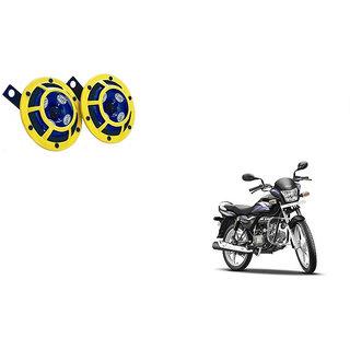Himmlisch Hella Yellow Panther Bike Horn Set Of 2 -For  Hero Splendor PRO