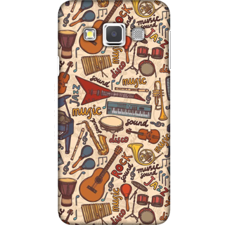 Galaxy A3 2015 Case, Music is Life Slim Fit Hard Case Cover / Back Cover For Galaxy A3 2015