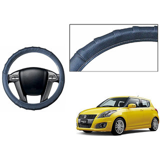 Himmlisch Grippy Leatherette Car Steering Cover Grey  For  Maruti Swift