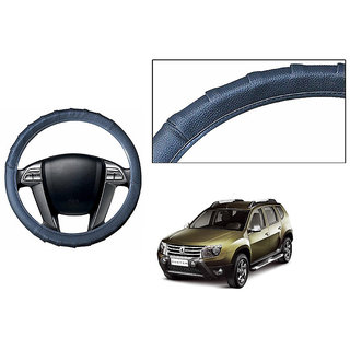 Himmlisch Grippy Leatherette Car Steering Cover Grey  For Renault Duster