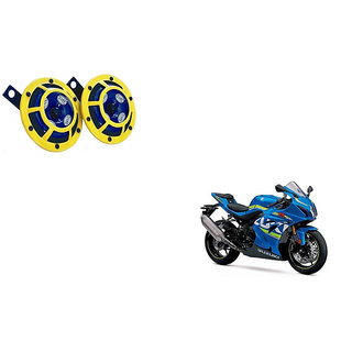Himmlisch Hella Yellow Panther Bike Horn Set Of 2 -For  Suzuki GSX-R1000