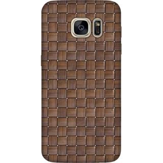 Galaxy S7 Edge Case, Dark Bamboo Weave 3 Slim Fit Hard Case Cover / Back Cover For Galaxy S7 Edge