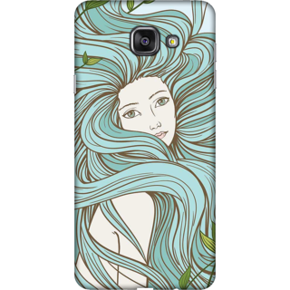Galaxy A3 2016 Case, Beautiful Girl Illustration Slim Fit Hard Case Cover / Back Cover For Galaxy A3 2016