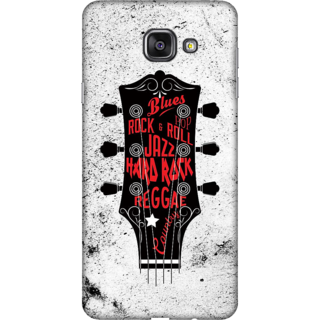 Galaxy A3 2016 Case, Music Genre Typography Slim Fit Hard Case Cover / Back Cover For Galaxy A3 2016