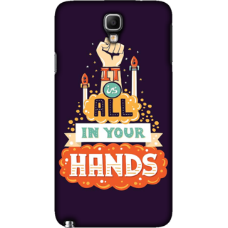 Galaxy Note 3 NEO Case, Its all in your Hands Slim Fit Hard Case Cover / Back Cover For Galaxy Note 3 NEO