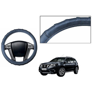 Himmlisch Grippy Leatherette Car Steering Cover Grey  For Nissan Terrano