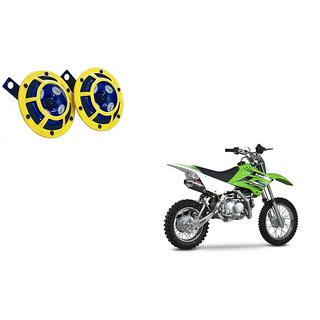 Himmlisch Hella Yellow Panther Bike Horn Set Of 2 -For  Kawasaki KLX 110