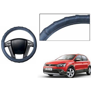 Himmlisch Grippy Leatherette Car Steering Cover Grey  For Toyota CrossPolo