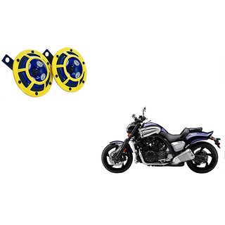 Himmlisch Hella Yellow Panther Bike Horn Set Of 2 -For  Yamaha Vmax