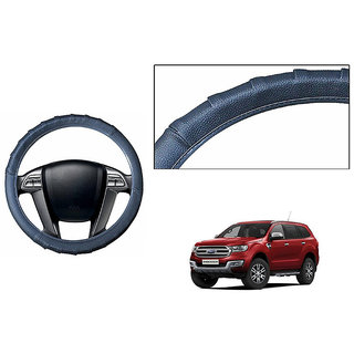 Himmlisch Grippy Leatherette Car Steering Cover Grey  For Ford Endeavour