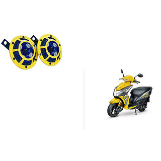 Himmlisch Hella Yellow Panther Bike Horn Set Of 2 -For  Honda Dio