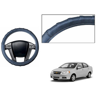 Himmlisch Grippy Leatherette Car Steering Cover Grey  For Chevrolet Aveo