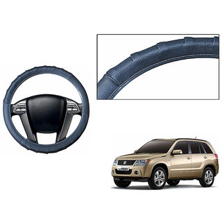 Himmlisch Grippy Leatherette Car Steering Cover Grey  For Maruti Grand Vitara