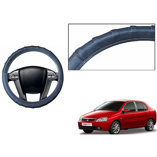 Himmlisch Grippy Leatherette Car Steering Cover Grey  For Tata Indigo
