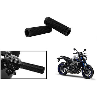 Himmlisch Bike Rubber Handle Grip Covers Set Of 2- For  Yamaha MT-09