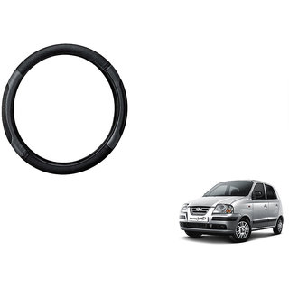 Himmlisch  Car Steering Wheel Cover Black&Grey For Hyundai Santro Xing