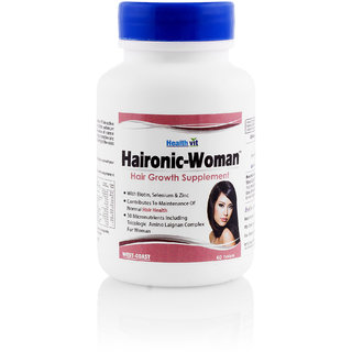 Buy1 Get1 Free HealthVit VITHAIR Hair Growth With Vitamin E 60Tablets(Pack Of 2)