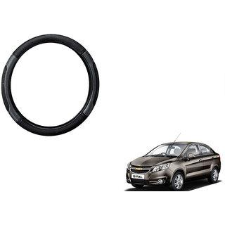 Himmlisch  Car Steering Wheel Cover Black&Grey For Chevrolet Sail