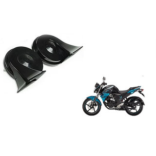 Himmlisch    Minda Dual Tone Black Trumpet Horn 12V Skoda Type High & Low  For      Yamaha FZ S V 2.0