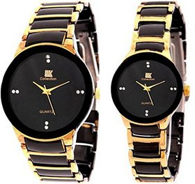 EG Store  Designer Couple Pair Combo GOLD Watch - For C
