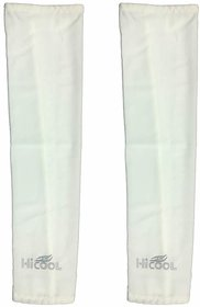 Hi-cool Arm sleeves for UV Sun Protection and sports -  (White Color)