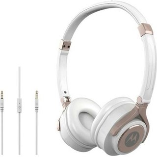 Motorola Pulse 2 On Ear Wired Headphone - White