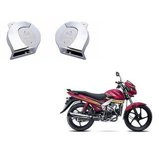 Himmlisch Chrome Trumpet Bike Horn Set Of 2 -For  Mahindra Centuro