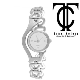 true choice new silver watch for women with 6 month warranty