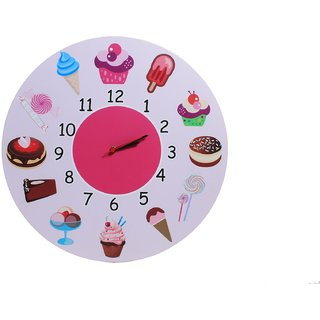 Baby Oodles Ice Cream Theme Wall Clock